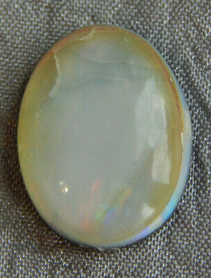 Vintage Antique Cabochon Opal Stone In between Glass & Plastic #234-A
