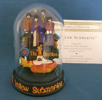 Franklin Mint The Beatles Yellow Submarine Glass Dome Figural Ltd Ed Certificate