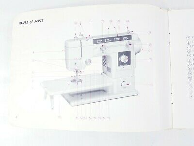 Original Janome New Home Sewing Machine Instruction Manual Booklet
