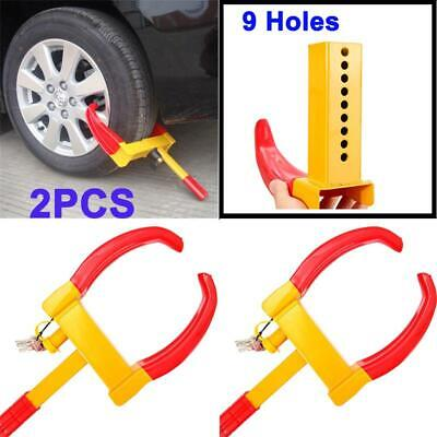 2x Wheel Lock Clamp Boot Tire Claw Trailer Auto Car Boat Truck Anti-Theft Towing