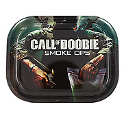 """Metal Rolling Tray """"Call of Doobie"""" 7 x 5.5 - Free Same Day Express Shipping"""