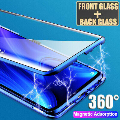 360° Magnetic Case for Samsung Galaxy Note10 S8 S9 S10 Double Temper Glass Cover