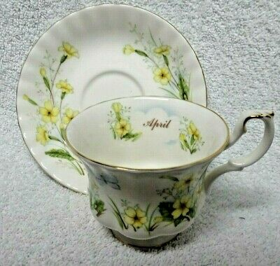 Royal Albert Wild Flower Of The Month Primrose  Cup And Saucer