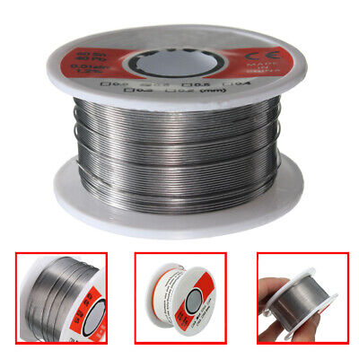 New Fine Solder Wire 0.6mm 60/40 2% Flux Reel Tube Tin lead Rosin Core Soldering