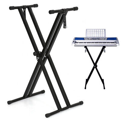 Electronic Piano X Stand Music Keyboard Standard Portable Rack Adjustables Metal