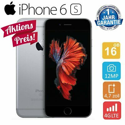 Apple iPhone 6S 16 GB Space Grau Smartphone Handy Ohne Simlock - WOW, Aktion!!
