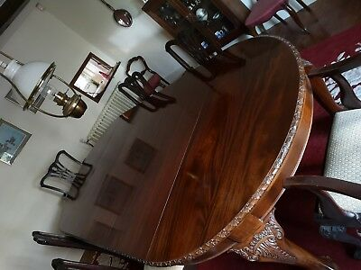 Mahogany dining Table and 6 chairs