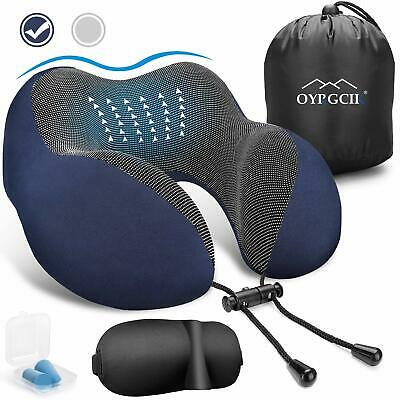 Airplane Travel Pillow 100% Pure Memory Foam Neck Pillow Soft & Breathable