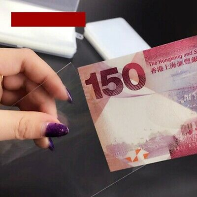 Paper Money Stamps Sleeves Clear Banknote Collection Protect Storage Bag FW