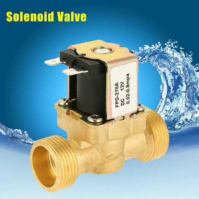DC 12V 300mA Electric Solenoid Valve Water Air G3/4 Brass Normal Closed AU