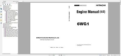 ISUZU 6WF1-TC DIESEL Engine Service Repair Manual CD - $9 98