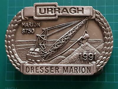 DRESSER Curragh Marion 8750  Mining Digging Equipment Buckingham P Belt Buckle