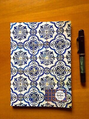 "250 pages ""Azulejo"" Tomoe River Notebook - Japanese Fountain Pen Friendly Paper"
