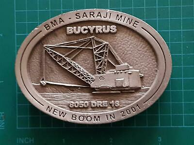 No : 41 BMA SARAJI MINE DRESSER Bucyrus 8050 Mining Equipment Belt Buckle 2001