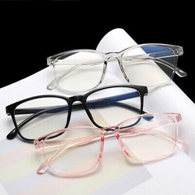 Mens Womens Clear Lens Square Full Frame Vintage Retro Eyeglasses Eye Glasses UK