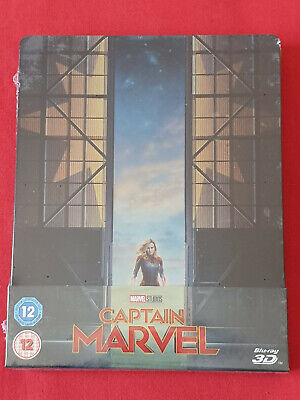 Captain Marvel 3D (avec Blu-ray 2D) Steelbook Exclusif Zavvi Limité Édition UK