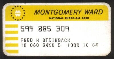 Vintage Montgomery Ward National Charg-All Princess Size Merchant Credit Card