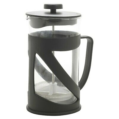 600ml Black Glass French Press Reusable Kitchen Coffee Maker Cafetiere Plunger