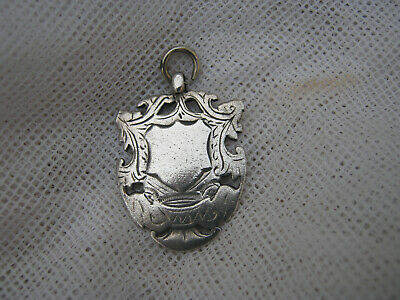 Xxx  Antique Lovely Antique Fob - Hallmarked Sterling Silver - A1 - $2 Post -