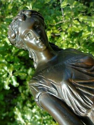 Antique Bronze Classical Maiden J Pradier French Bust Jean-Jacques