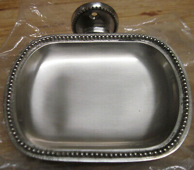 Pottery Barn Outlet Antique Beaded Soap Dish Nickel Plated New In Box