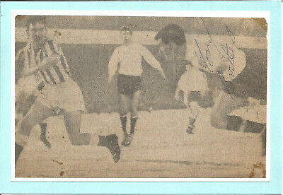 Football Autograph Tony Bartlay 1960's Signed Newspaper Photograph F1543
