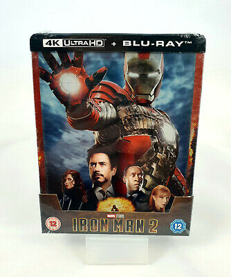 Iron Man 2 - 4K Ultra HD (Blu-ray 2D inclus) Steelbook Exclusif Zavvi