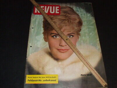 """Maria Schell … on cover … german magazine """"REVUE"""" … 1961 (a)"""