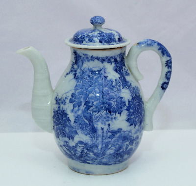 C1860 Japanese SETO Porcelain Late Edo / MEIJI Blue & White Porcelain Coffee Pot