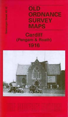 Old Ordnance Survey Map Cardiff Pengam & Roath 1916