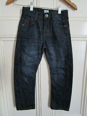 Boy's F&F Dark Blue Twisted Jeans Trousers age 5-6 years (VGC)