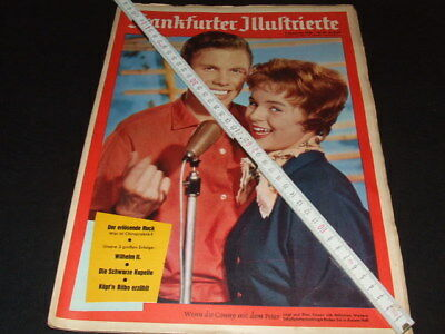 Conny Froboess + Peter Kraus … on cover … german magazine … 1958