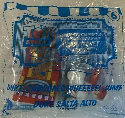 Duke Cabooms Whee! Jump #6 Toy Story 4 Happy Meal McDonalds Opened No Ticket