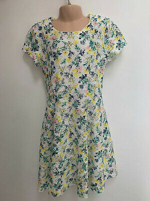 ex Matalan Girls Green Floral Laced Lace Dress Age 1.5 - 15 Years Old