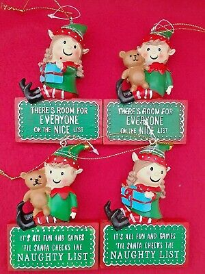 Hanging Elf Decoration - 4 To Choose From - Brand New