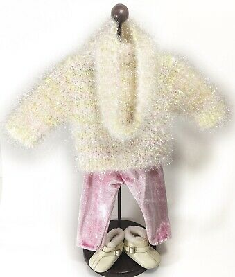 Ret. American Girl Today Winter/Snow Sparkle Sweater Outfit 1998 18In Stunning