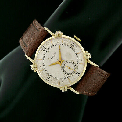 Vintage Solid 14k Yellow Gold LeCoultre 29mm Mechanical 480/CW 17j Wrist Watch