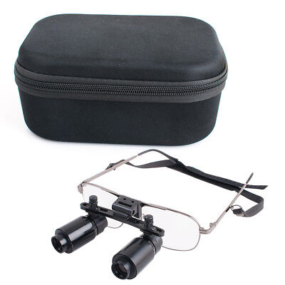 Black Dental Loupes Surgical Binocular Magnifier Glass6.5X R 300-500mm+Cloth Bag