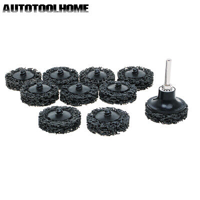 10pc 2inch Black Easy Strip Discs Clean Remove Paint Rust Abrasives Coarse Roloc