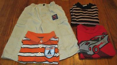 Lot/4 Toddler  Boys Healthtex Cargo Pants Arizona Carter's Shirts Tops~Sz 18M~Ec