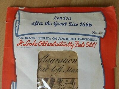 London after the Great Fire 1666. Authentic Replica no. 410, antiqued parchment.