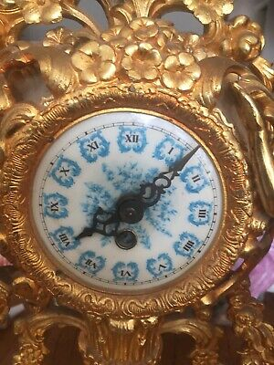 Antique/ Vintage French Gilded Mantle Clock