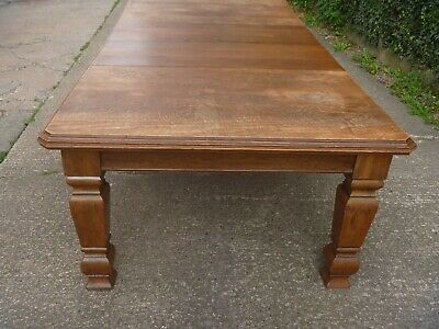 Victorian Oak Wind Out/Extending Dining Table..For Light Restoration..240cm L
