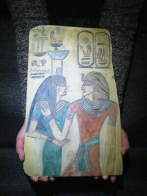 EGYPTIAN ANTIQUES ANTIQUITY Horembheb And Nephythys Stela Stele 1319-1292 BC