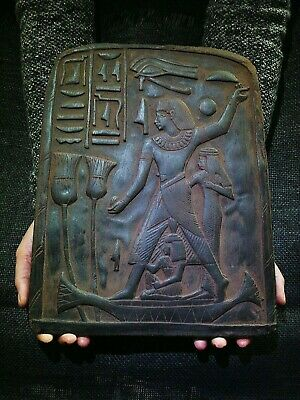 EGYPTIAN ANTIQUES ANTIQUITY Accountant Nebamun Stela Stele Stelae 1400-1350 BC