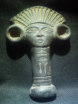 EGYPTIAN ANTIQUES ANTIQUITY Nefertari Amulet Figure Pendant 1549-1139 BC