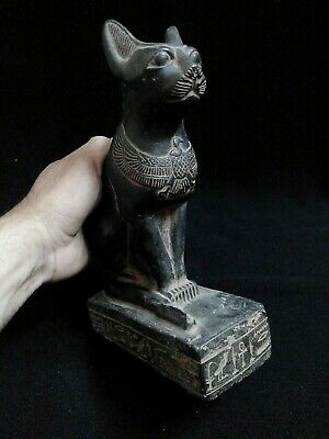 EGYPTIAN ANTIQUES ANTIQUITY Seated Cat Bastet Ubaste Bast Figure 2290-2665 BC