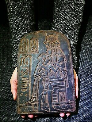 EGYPTIAN ANTIQUES ANTIQUITY Isis Suckling Seti I Stela Stele 1290-1279 BC