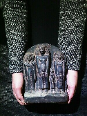 EGYPTIAN ANTIQUES ANTIQUITY Family Group Stela Stele High Relief 1850-1800 BC
