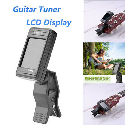 Guitar Tuner Rotating Clip-on  LCD Display Electric Tuners Chromatic Bass Part
